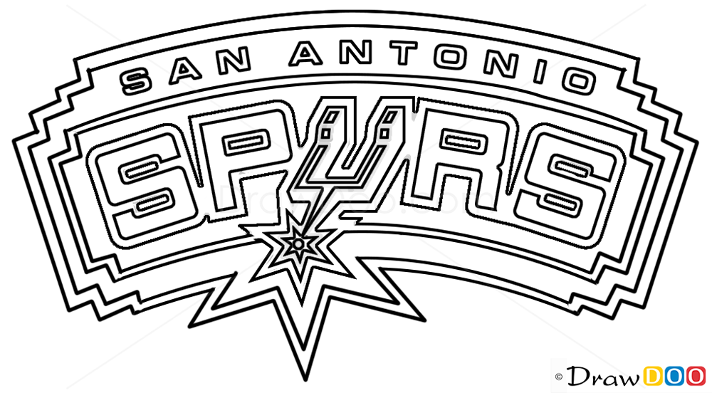 How to Draw San Antonio Spurs Basketball Logos How to