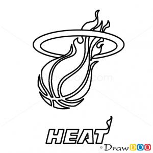 How To Draw Miami Heat Basketball Logos