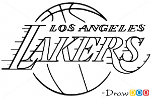 How To Draw Los Angeles Lakers Basketball Logos