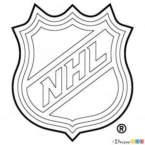How to Draw NHL Logo Hockey Logos