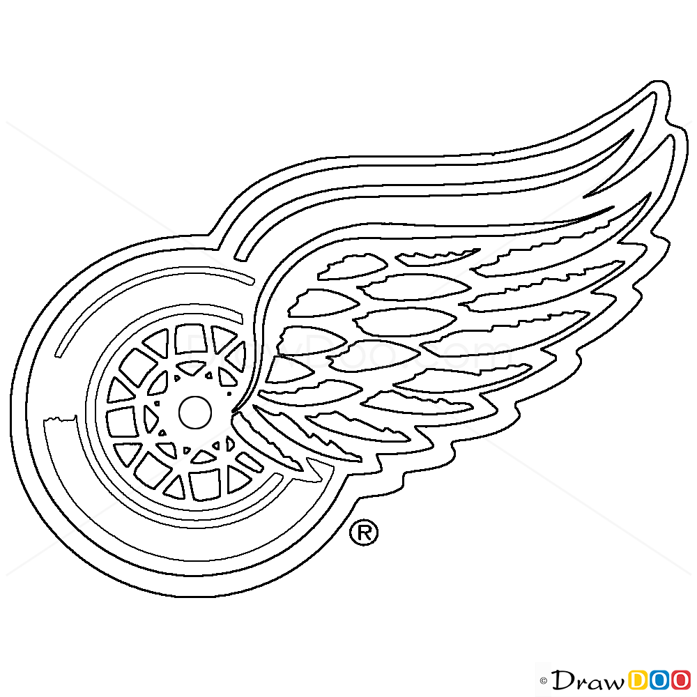 How To Draw Detroit Red Wings Hockey Logos How To Draw