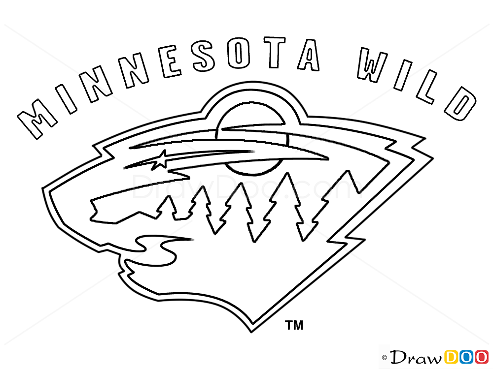 How To Draw Minnesota Wild Hockey Logos How To Draw