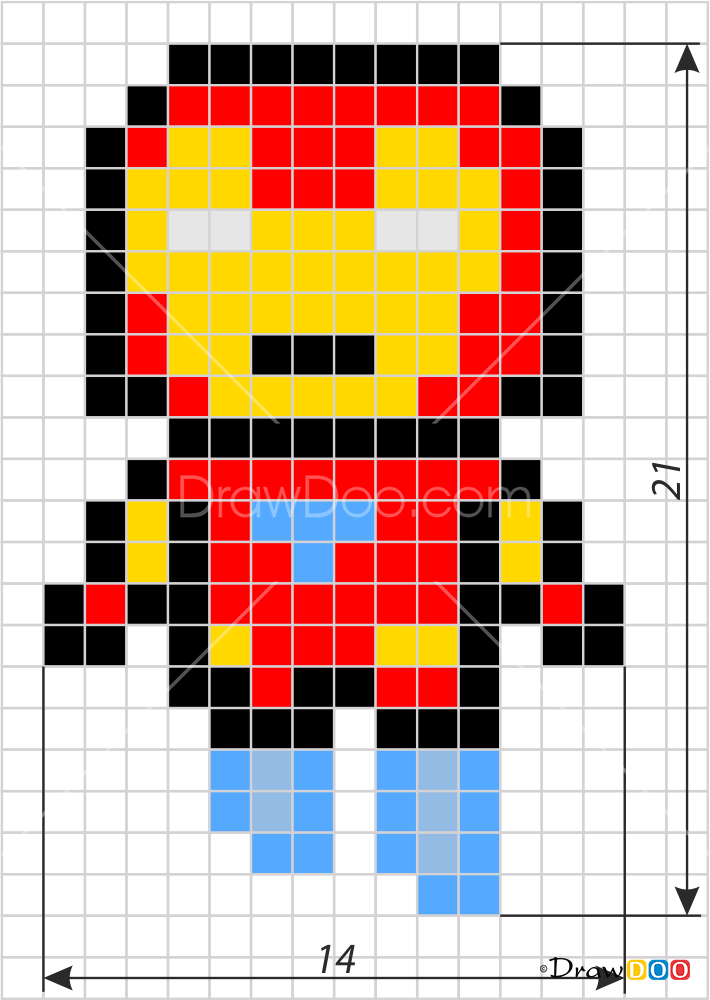 How To Draw Superman Pixel Superheroes