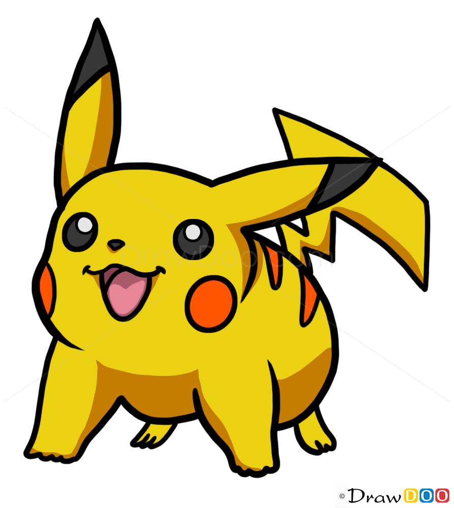 How To Draw Pikachu Pokemons Draw Drawing Ideas