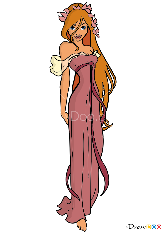 How To Draw Giselle Cartoon Princess