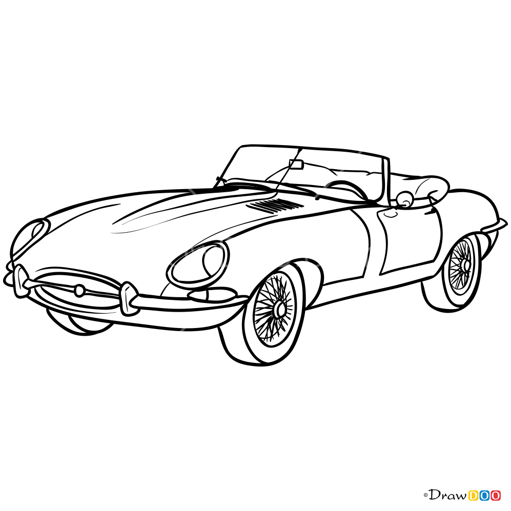 how to draw jaguar e