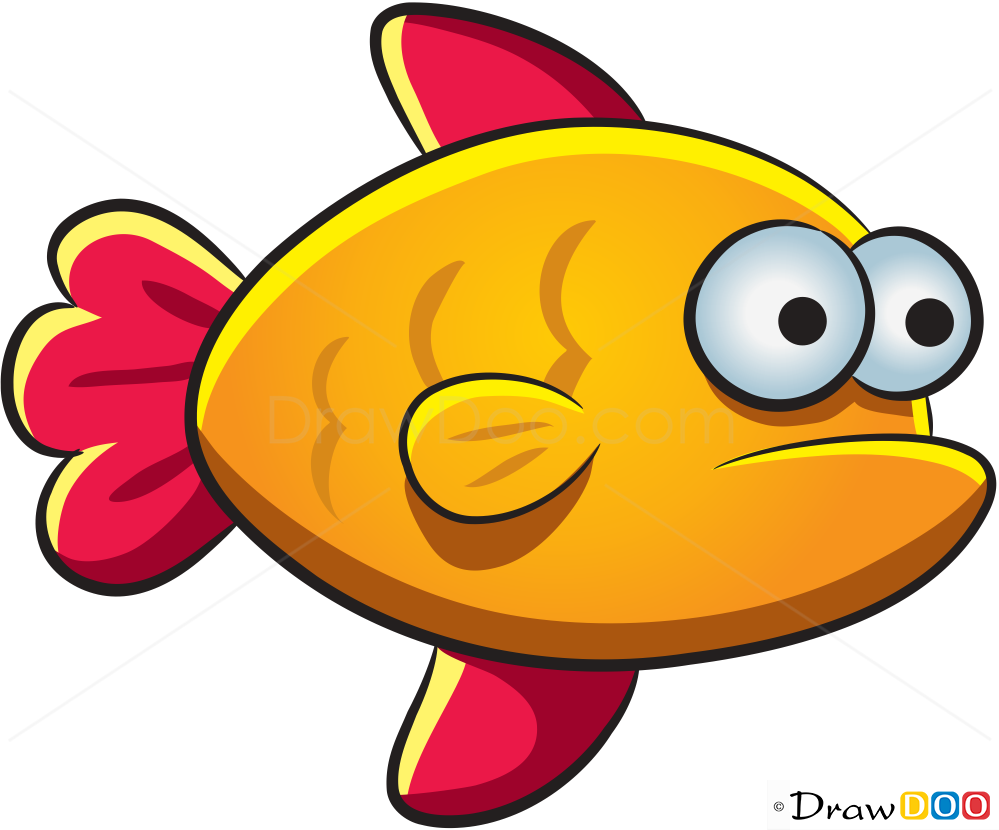 Fish Drawing How To Draw Sea Animals Characters
