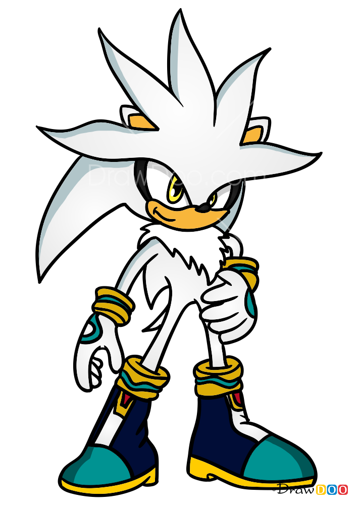 How To Draw Silver The Hedgehog Sonic The Hedgehog