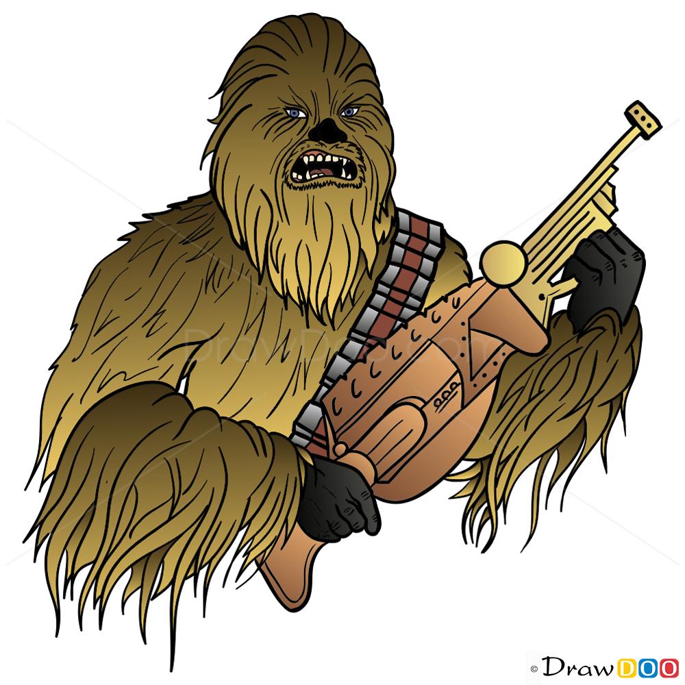 How To Draw Chewbacca, Star Wars