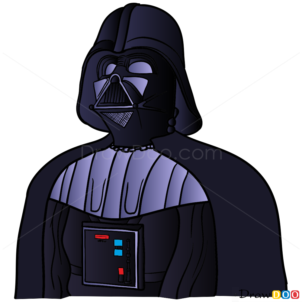 How To Draw Darth Vader Star Wars