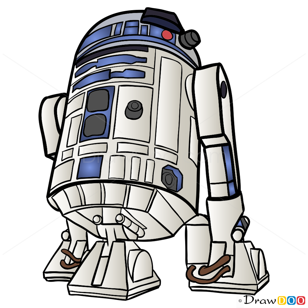 How To Draw R2 D2 Star Wars
