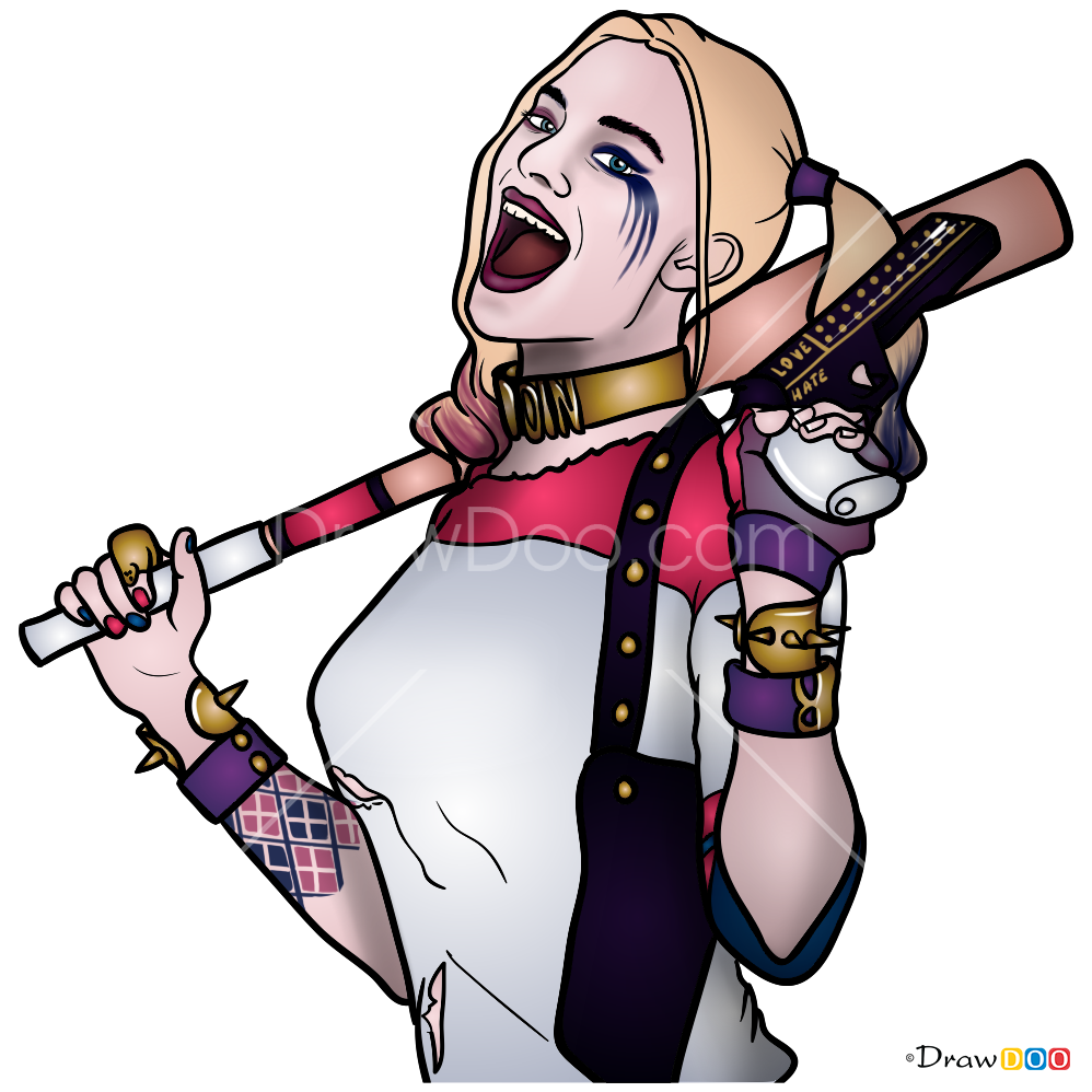 How To Draw Harley Quinn, Suicide Squad
