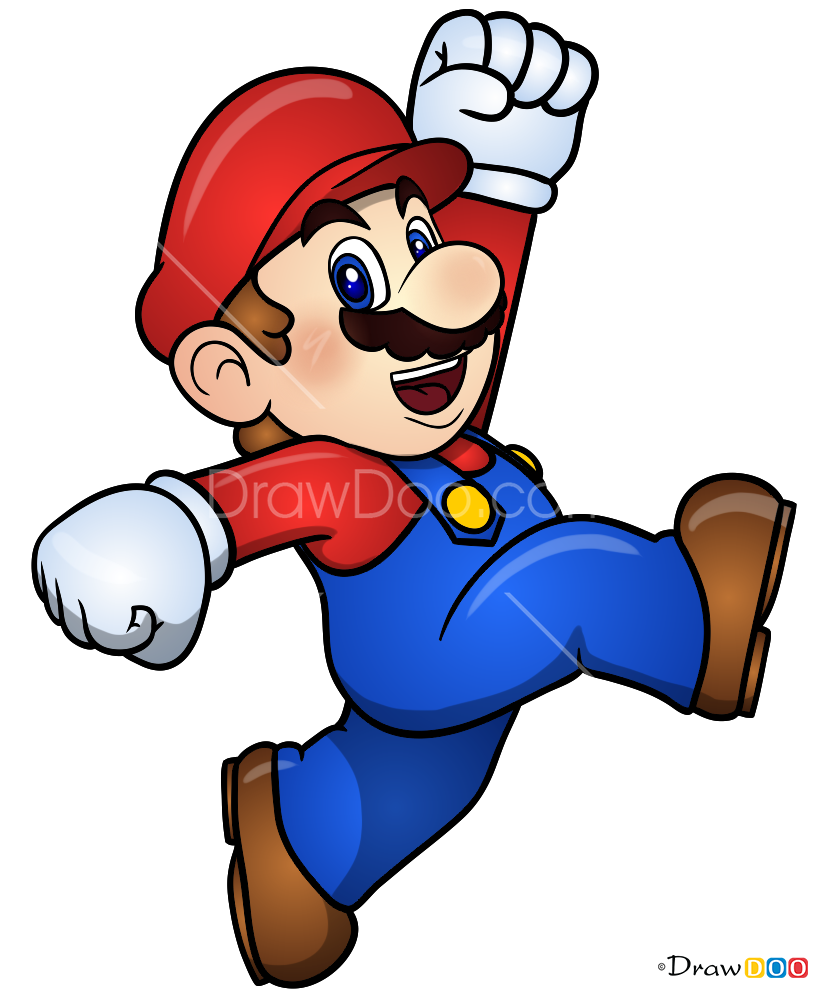 How To Draw Mario Super Step Diagram For