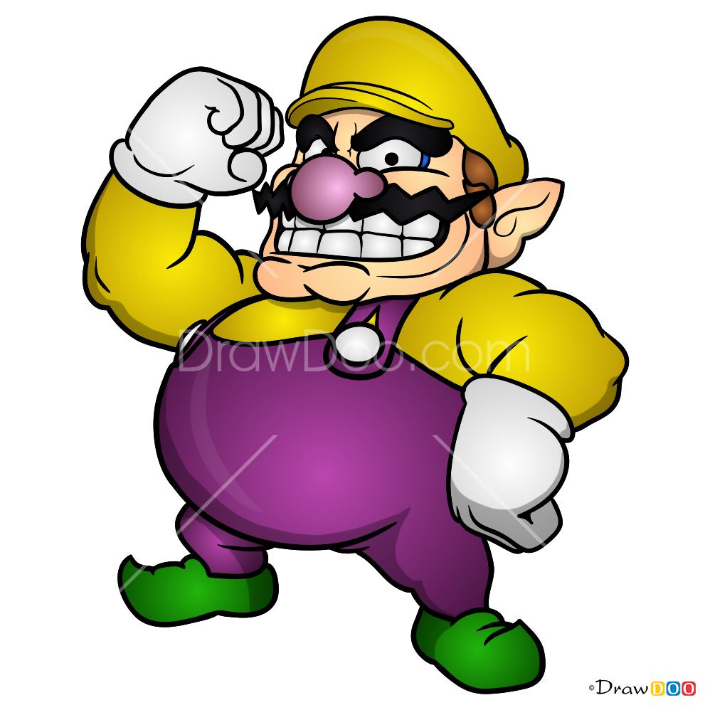 How To Draw Wario Super Mario Step Diagram For
