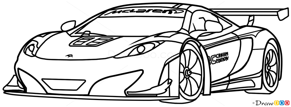 How To Draw McLaren MP4 12C White Supercars Draw Drawing Ideas Something