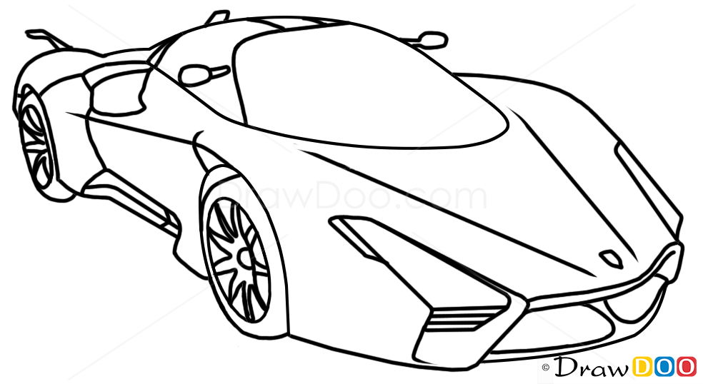 How To Draw SSC Ultimate Aero XT Supercars