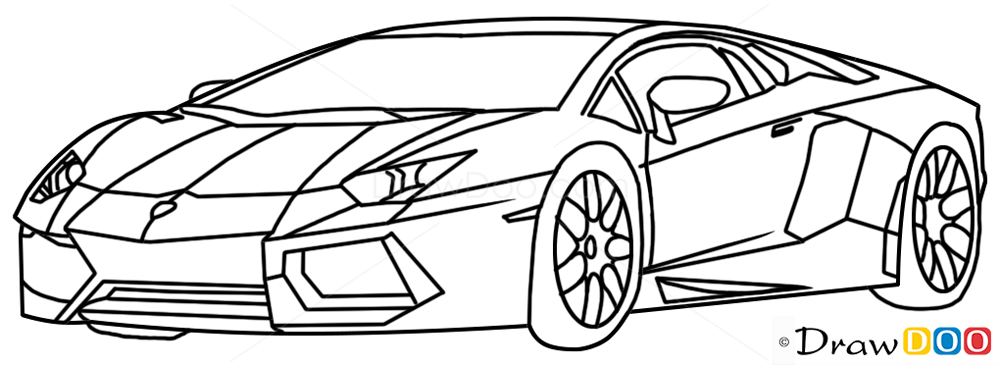How To Draw Lamborghini Diablo Supercars Draw Drawing Ideas Something