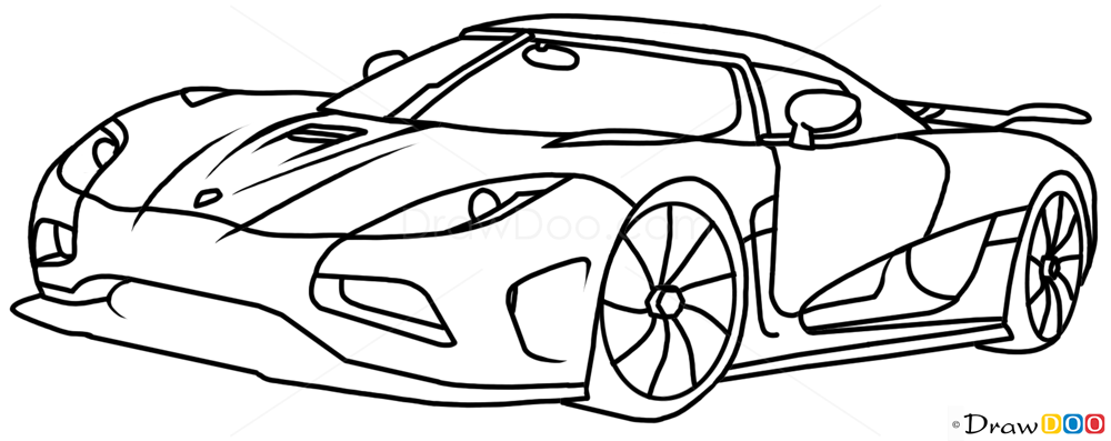 Drawing Lines R : How to draw koenigsegg agera r supercars