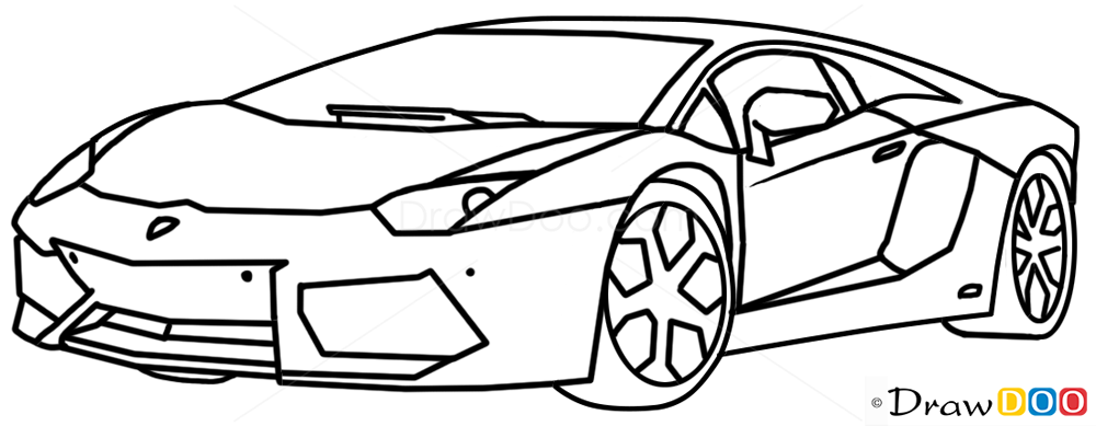 How to Draw Lamborghini Aventador, Supercars - How to Draw ...