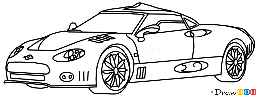 How to draw v8 supercars