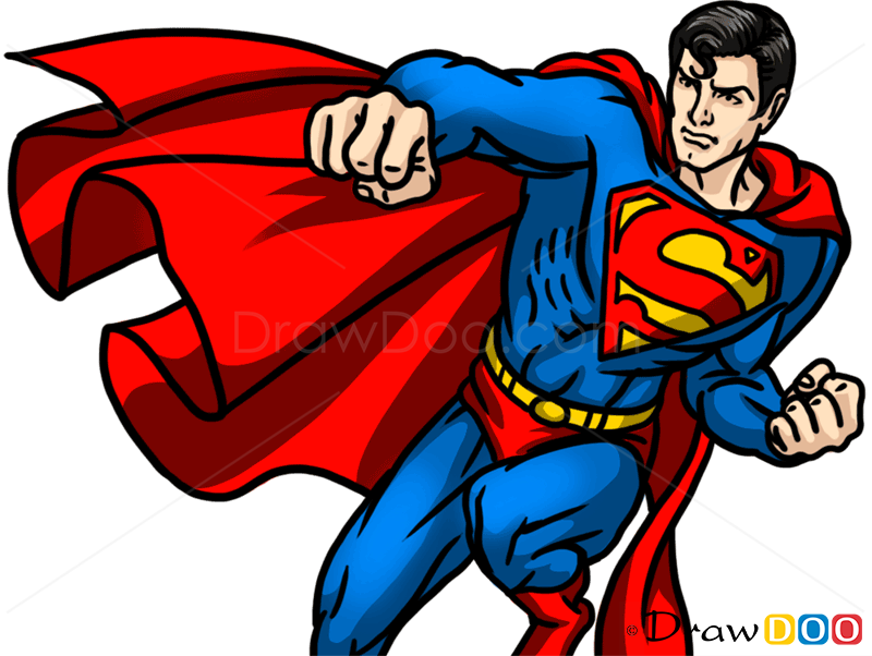 How To Draw Superman Superheroes Draw Drawing