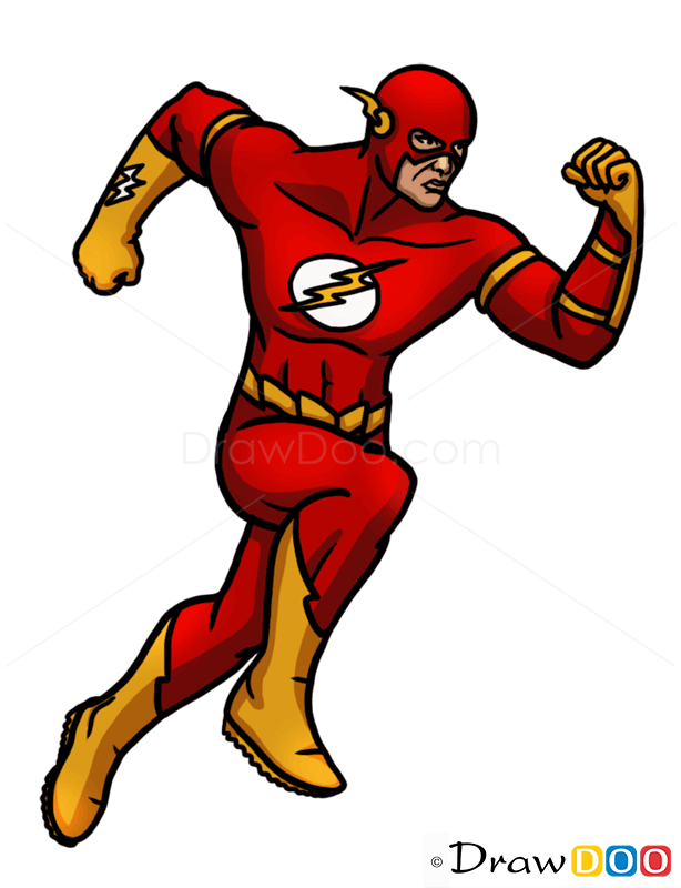 How to draw flash superheroes step by step drawing - Super hero flash ...