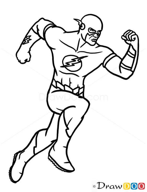 to Draw Flash  Superheroes Easy Superhero Drawing