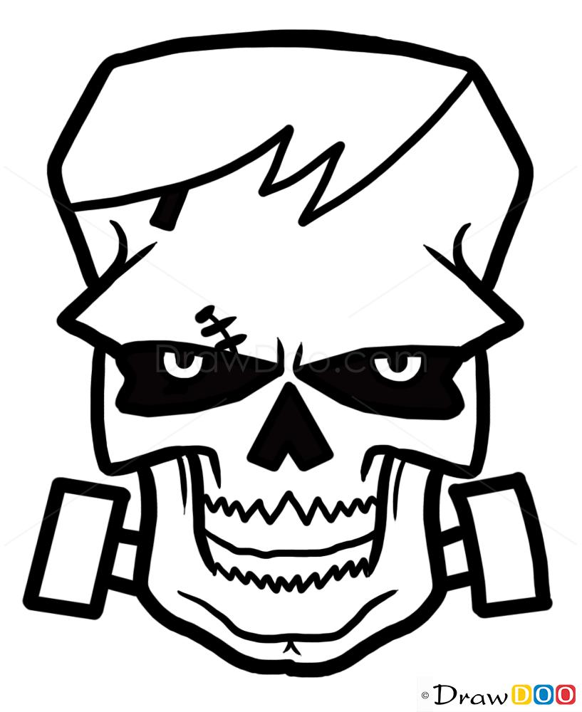 frankenstein drawing  how to draw tattoo skulls