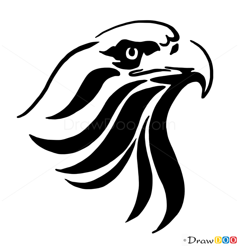 tribal eagle tattoo how to draw tribal tattoos. Black Bedroom Furniture Sets. Home Design Ideas