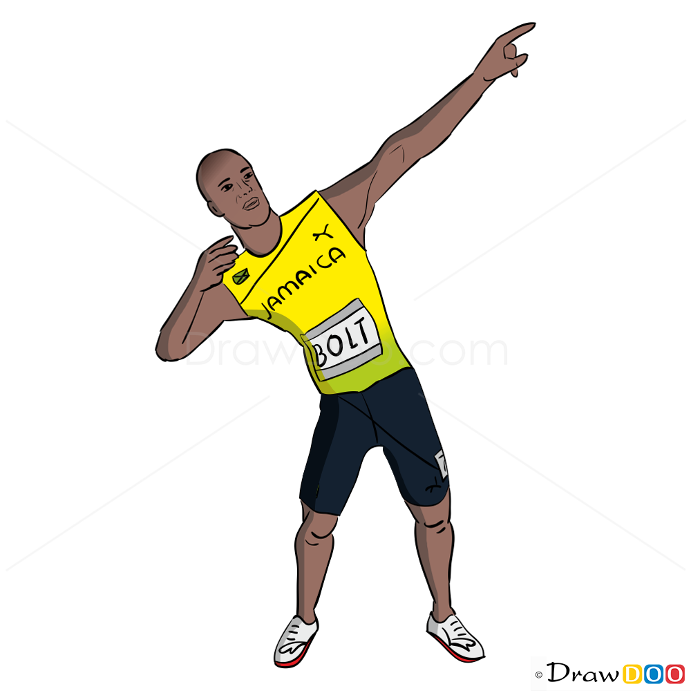 How to Draw Usain Bolt Temple Run