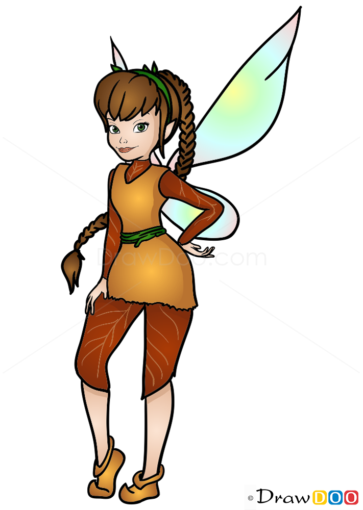 How To Draw Fawn Tinker Bell