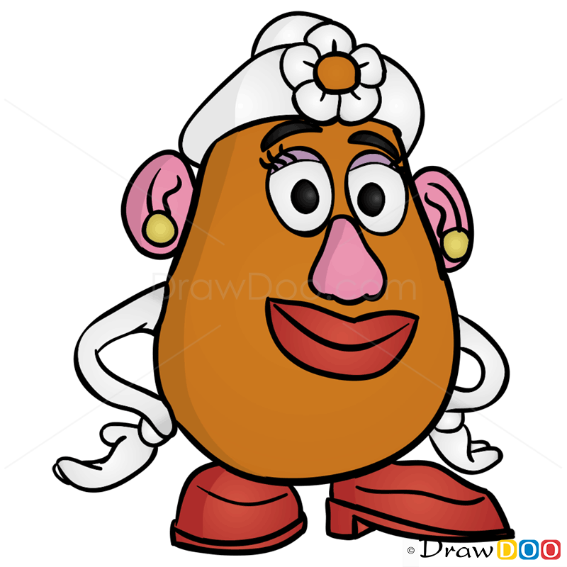 How to Draw Mrs Potato Head Toy