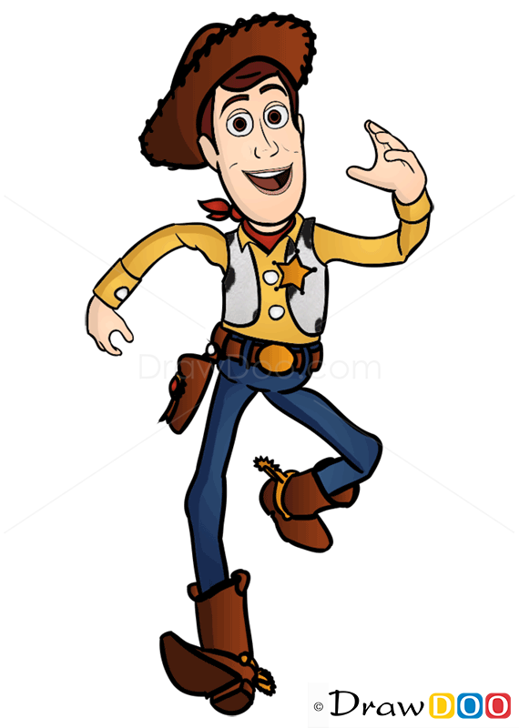How To Draw Sheriff Woody Toy Story