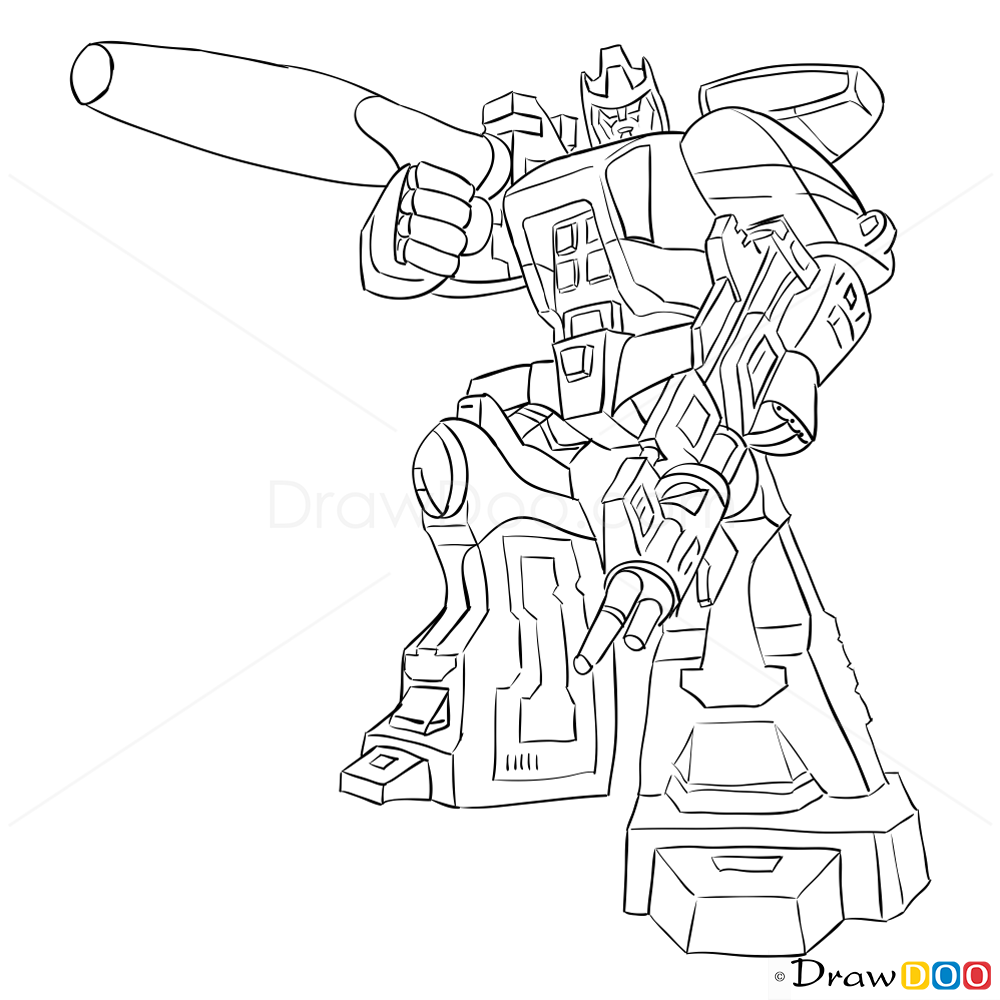 How to Draw Galvatron Transformers