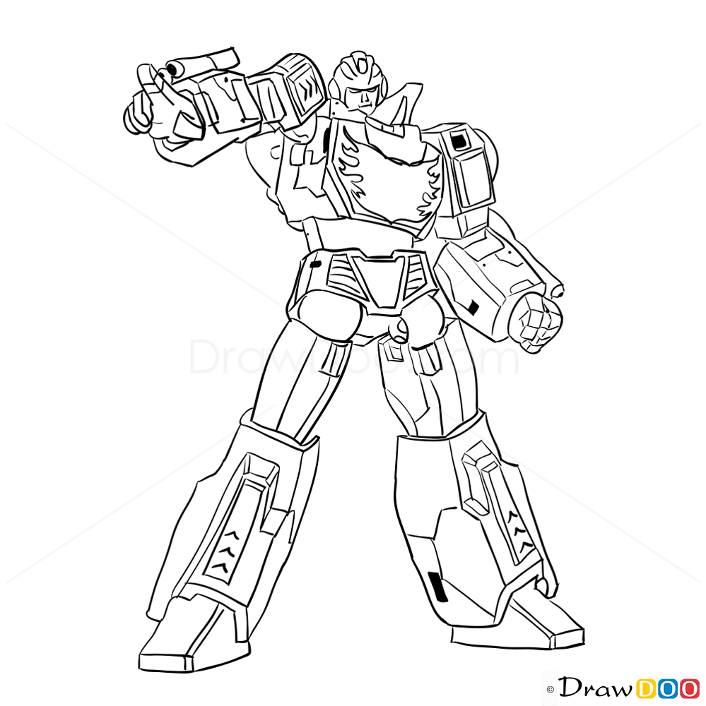 How To Draw Hotrod Transformers