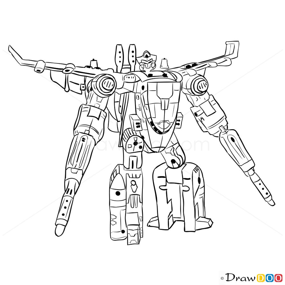 How To Draw Jetfire Transformers