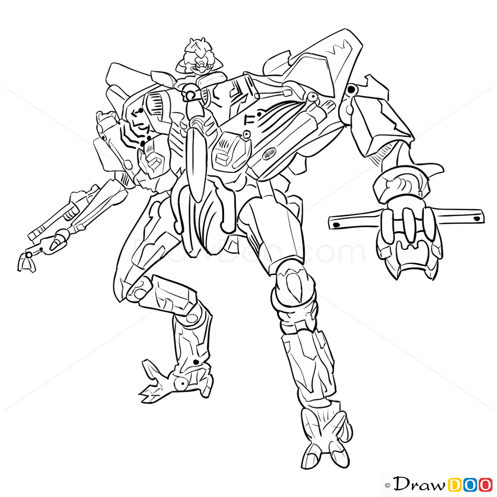 How to Draw Starscream Transformers