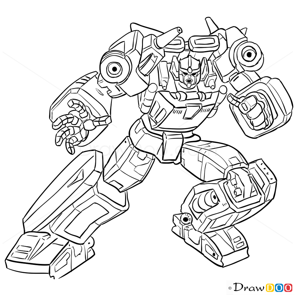 How To Draw Sunstreaker Transformers