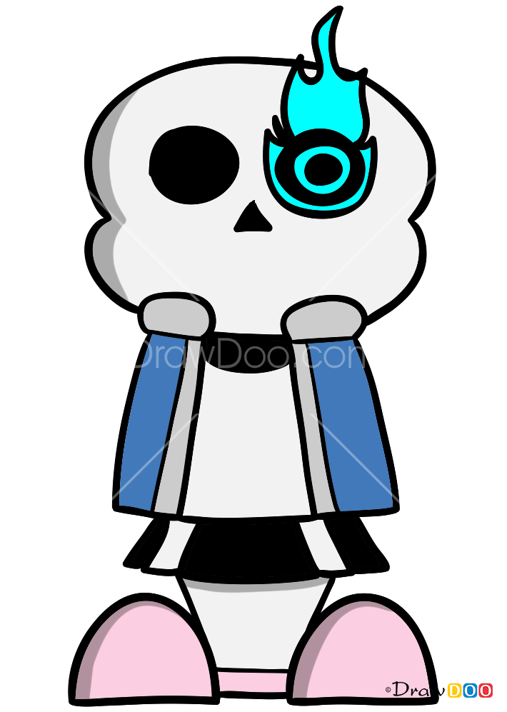 how to draw sans undertale