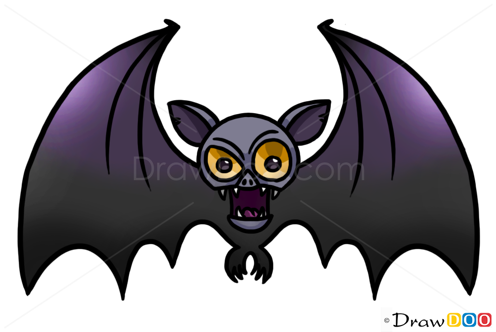 How to Draw Vampire Bat, Vampires and Werewolfs - How to ...