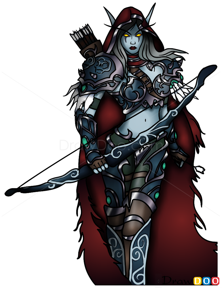 How to Draw Sylvanus Windrunner, Warcraft | 771 x 1000 png 505kB