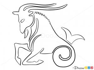 How To Draw Capricorn Goat Zodiac Signs